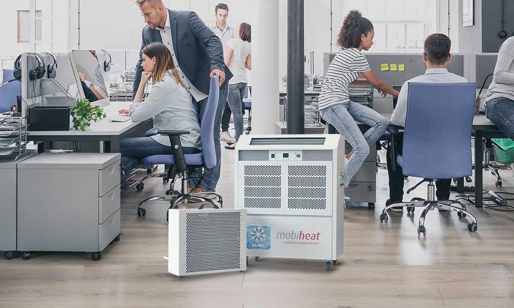 mobicool Split-Klimagerät MC7 im Einsatz in einem Büro zur Klimatisierung