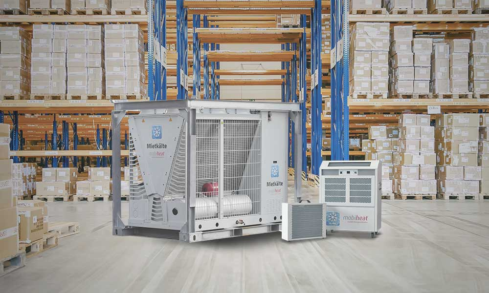 mobicool Kaltwassersatz MC80 sowie MC7 im Einsatz in einer Lagerhalle